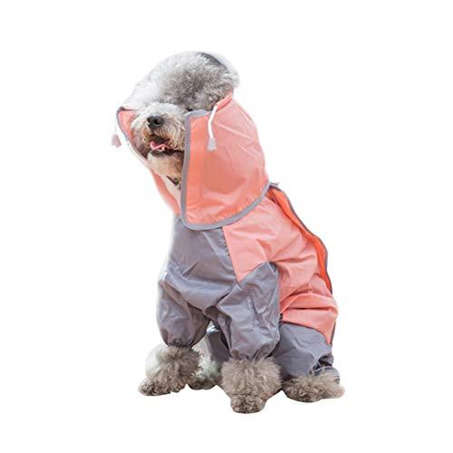 POPETPOP Popopp Regenmantel für Hunde, wasserdicht, dünn, für kleine Katzen, für Frühling und Sommer, Größe XS (Rosa)