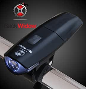 Black Widow Rechargeable Front Light - New Version