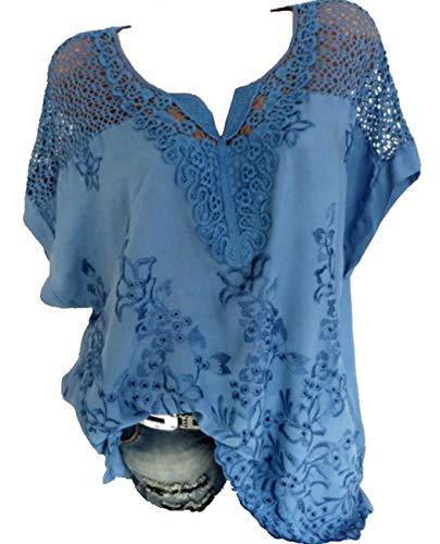 huge discount bad9a adc1e Rolanscia Damen Elegante Blusen und Tuniken Hemd Bluse Sommer Blusenshirt  Festliche Shirts Kurzarm Leichte Hohl Oberteil