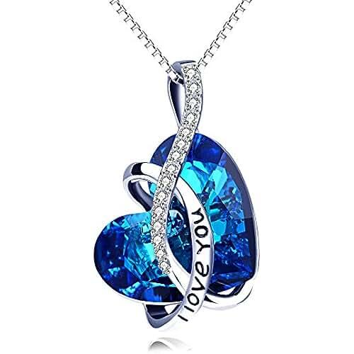 ofertas para el dia de la madre Cadena Mujer con Cristales de Swarovski Cristal (Diseño de Corazón, Halskette Mujer, joyas mujer