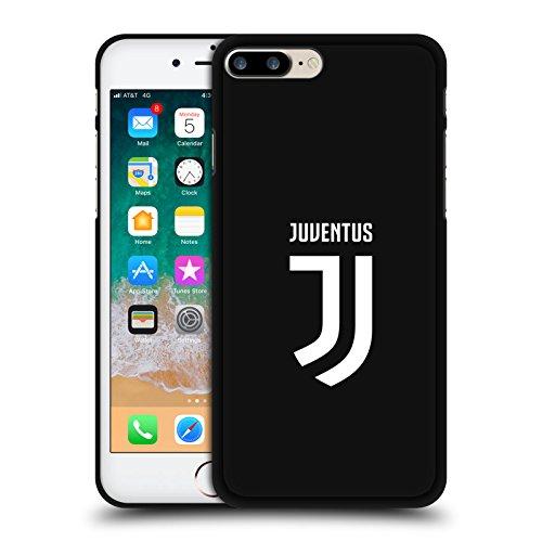 Offizielle Juventus Football Club Einfarbig Verschiedene Designs Schwarze Soft Gel Huelle kompatibel mit iPhone 7 Plus/iPhone 8 Plus