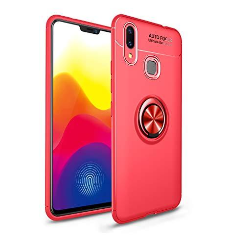 Funda Xiaomi Mi MAX 3 Teléfono Móvil Silicona Bumper Case Funda con Anillo Giratorio de 360 Grados Rotaria Ring Holder Protectora Caso (6, Xiaomi Mi MAX 3)