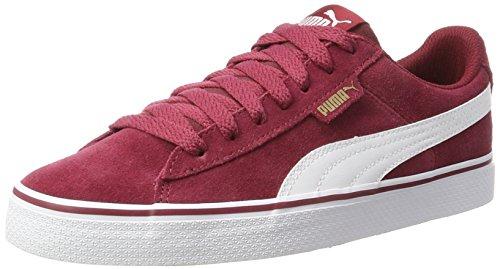 Puma Unisex-Erwachsene 1948 Vulc Sneaker, Rot (Tibetan Red-White), 46 EU (Puma Rot Wildleder)