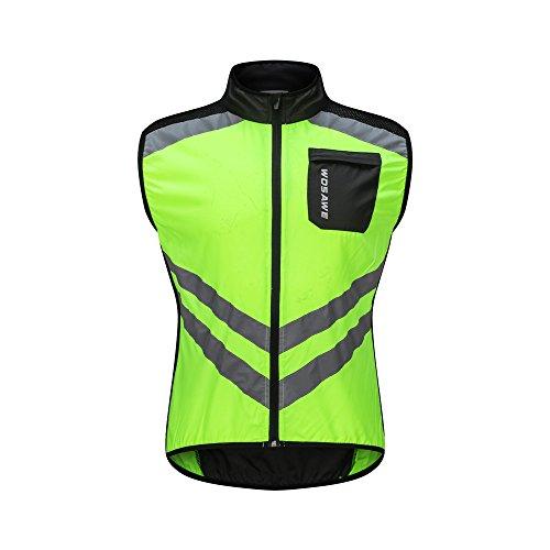 WOSAWE Cycling Vest Breathable Reflective Gilet Men Women Windproof  Sleeveless Jacket Safety for Motorbike 0c5b56cfe