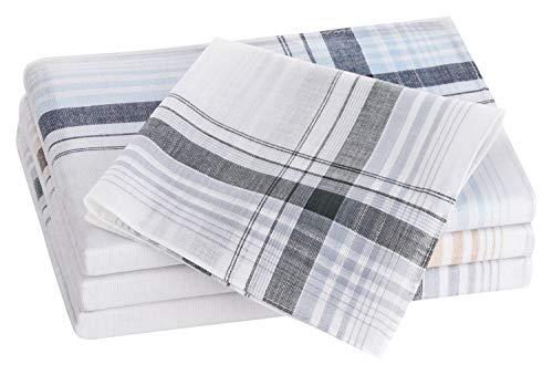 Tobeni 20 Herren Taschentücher Stofftaschentücher 100% gekämmte Baumwolle Herrentaschentücher Farbe Design 19 Grösse 40 cm x 40 cm