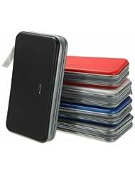 Assorted Colors 80 Disc CD DVD Portable Storage Case Bag Holder