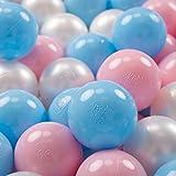 KiddyMoon 700 ∅ 7Cm Bolas Colores De Plástico para Piscina Certificadas para Niños, Azul Celeste