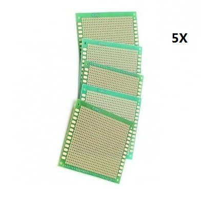 5pcs 70x90mm bricolage à souder Prototype Copper PCB Printed Circuit Board Simple Side