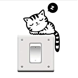 Cat Nap Pet Light Switch Funny Wall Decal Vinyl Sticker
