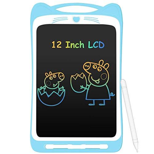 AGPTEK Tablette d'écriture LCD Enfant, 12' Ardoise Magique Coloré Planche à Dessin avec Stylet...
