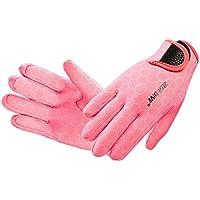 LUFA Unisex impermeable 3 mm 8-dedo estiramiento neopreno guantes para el buceo de natación
