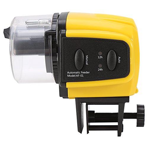 Haofy alimentatore temporizzato dell'acquario dell'acquario, temporizzatore automatico di plastica elettrico automatico del pesce per alimentazione domestica dell'acquario dell'alimento