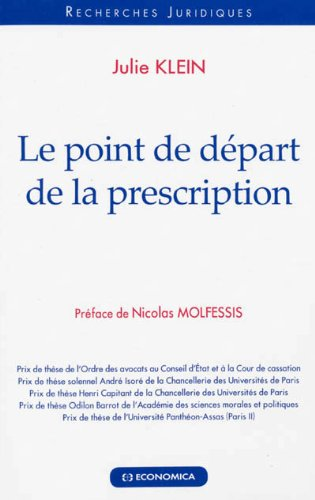 Point de départ de la prescription (Le) par Klein Julie