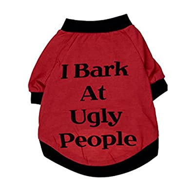 FEITONG 2016 Fashion I Bark At Ugly People Summer Pets Puppies Small Large Dogs Cats Clothes