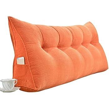 Cuscino Cuscino Letto in Tessuto Colore : Gray, Dimensioni : No headboard-120cm Dimensioni: 60 x 12 cm XJRHB Cuscino Matrimoniale