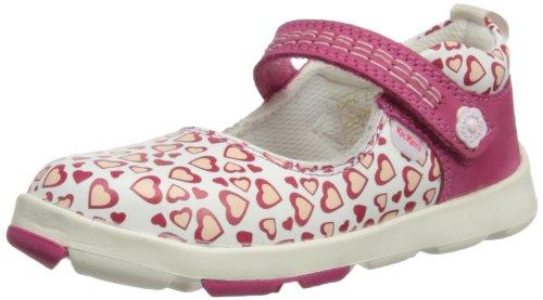 Kickers  Jiri Bar, Baskets mode pour fille Rose - blanc/rose