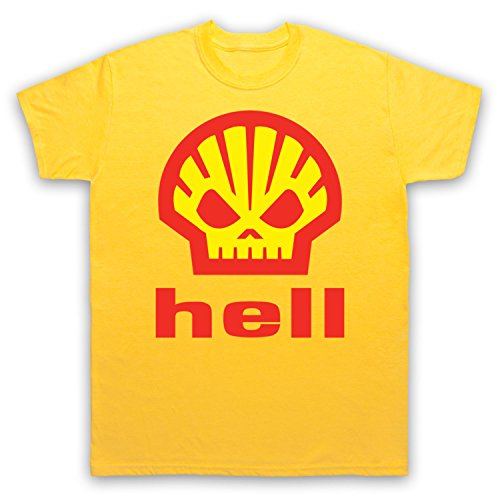 Inspiriert durch Shell Hell As Worn By Heath Ledger Unofficial Herren T-Shirt Gelb