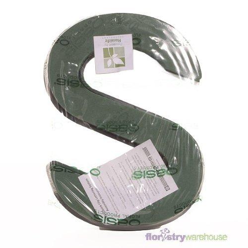 Oasis Blumenmuster Schaum Buchstaben Schnell Klammer System A-Z Erhältlich - Letter S
