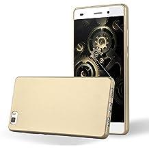 Cadorabo - Cubierta Protectora para Huawei P8 LITE de Silicona TPU con Efecto Metálico Mate – Case Cover Funda Carcasa Protección en METALLIC-ORO