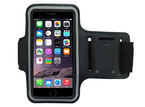 CoverKingz Armtasche Laufarmband für Apple iPhone 8 Plus - iPhone 7 Plus Sportarmband mit Schlüsselfach, Handyhülle für Joggen, Handy Armband Schwarz