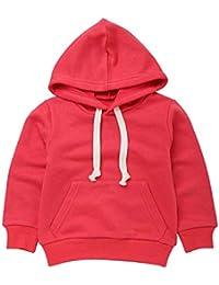 Pochers Herbst Kinder Kid Boy Solide Tasche Pullover Kapuzen Hoodie Outfits Tops Kleidung