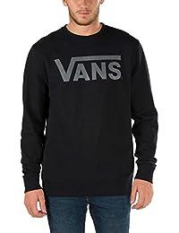 Vans - M VANS CLASSIC CREW BLK/CHECKERBOAR - Sweat-shirt - Homme