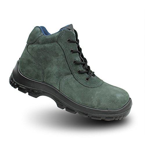 Sicurezza Ergos S1P SRC scarpe, lavoro scarpe, business scarpe, alto verde Verde