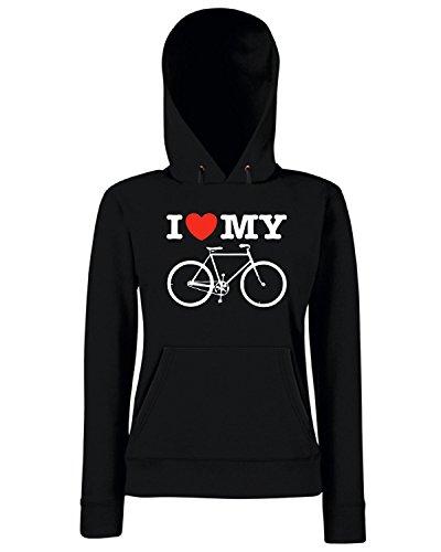 T-Shirtshock - Sweats a capuche Femme TLOVE0110 i love my bicycle Noir