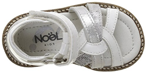 Noël Mini Sixty, Sandales Bébé Fille Blanc (Blanc)