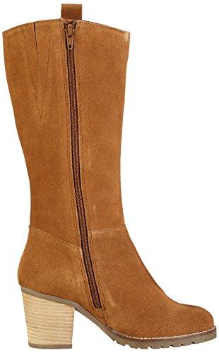 Bianco Long Suede Boot Jja16, Bottes hautes  femme Marron - Braun (24/Light Brown)