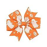 Dylandy Bow Hair clip Halloween fiocco con nodo fermaglio per capelli per bambini accessori per capelli nastro grosgrain 8 * 8CM I