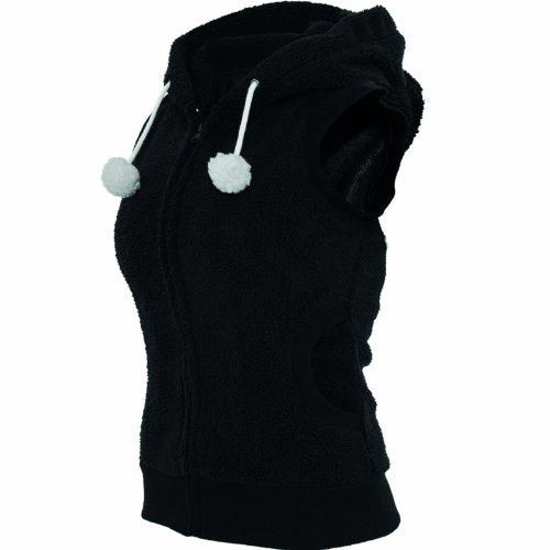 """Urban Classics Femme Jeune Mode """"Ladies Teddy Vest"""" Noir"""