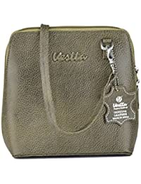 Vestta Genuine Leather Grey Sling Bag For Woman