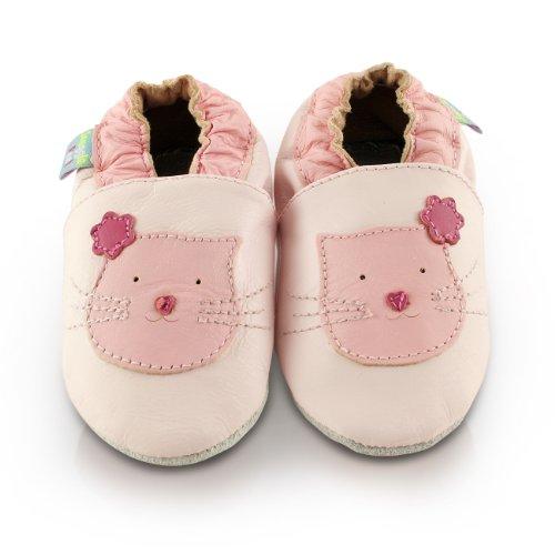 snuggle-feet-chaussons-bb-en-cuir-doux-rose-avec-chaton-mignon-18-24-mois