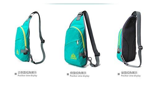 Imagen de aonijie impermeable  de hombro sling pecho bolsa paquete cuerpo cruz bolsas escuela  bookbag para jóvenes mujeres y hombres, azul celeste alternativa