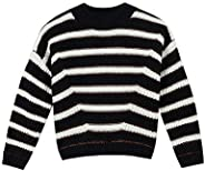 Catimini Pull-Noir Fille Suéter pulóver para Niñas