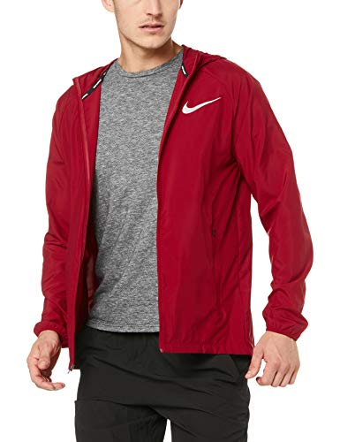 Nike Herren Essentials Jacke, Red Crush/Reflective Silver, L