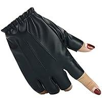 JxucTo Montar a Caballo al Aire Libre Medio Dedo PU Leather Rock Glove Ciclismo Sports Fitness Guante para Mujeres