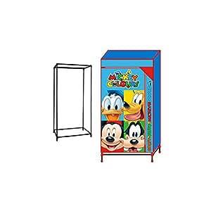 Mickey Mouse–Tissu Déhoussable Armoire, 130x 70x 45cm (Arditex wd8331)