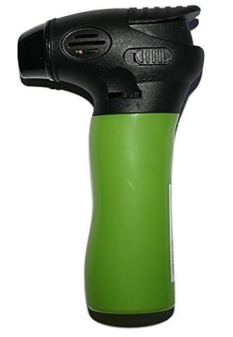 Puf coupe-vent Briquet torche de grande contenance avec commutateur de verrouillage, Green