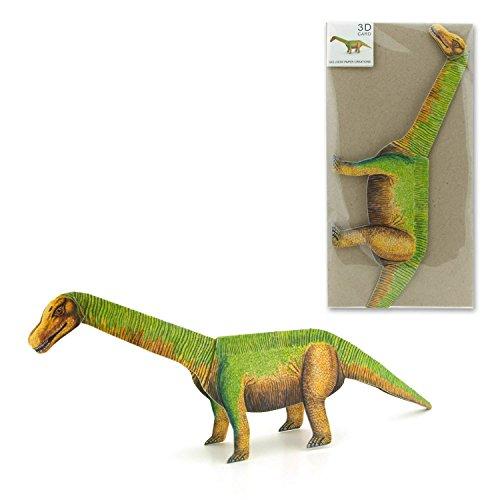 """""""DINOSAURIER"""": Pop-Up-Karte / 3 D-Faltkarte mit einen imposanten Dinosaurier / Geburtstagskarte oder Glückwunschkarte für Kinder, die aufgefaltet richtig stehen kann / inkl. Umschlag"""