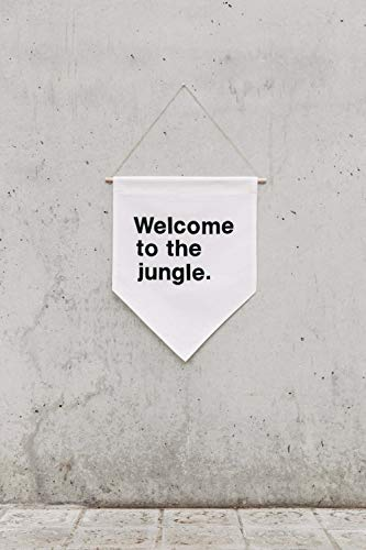 Welcome to the Jungle Lettering Wall Banner, Customizable, Canvas Wall Banner, Canvas Banner, Wall Decor, Wall Hanging 15.55 x 19.68 Inches