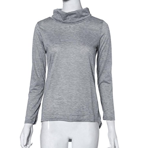Tonsee® Hoodie femme manches longues Sweatshirt Pull à capuche Manteau Casual Gris