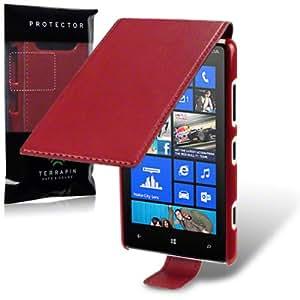 """Étui / Housse """"Terrapin"""" en Cuir à Rabat pour Nokia Lumia 820 - Rouge"""