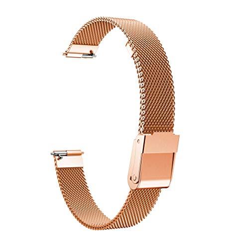 TianranRT Edelstahl Stahl Mesh Ersatz Watch Band+Film Für Fitbit Inspire/Inspire HR (Roségold)