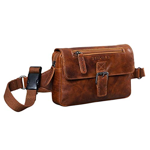 STILORD 'Ian' Bolso Cintura Piel Riñonera Vintage