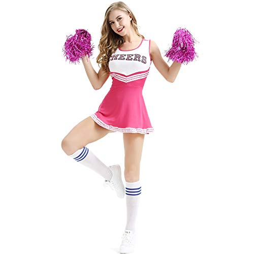 n-Outfit Dessous Damen Sexy Varsity High School Cheer Girl Cheerleading Uniform Costume ()