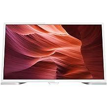 Philips 24PHH5210/88 - TV LED HD compacto de 24 pulgadas (60cm), resolución de 1366 x 768 Pixeles, relación de aspecto de 4:3 y 16:9, color blanco