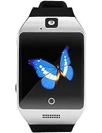 zolimx Q18S elegante reloj Bluetooth GSM cámara TF tarjeta reloj (plata)