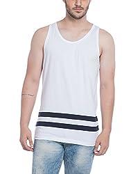 Alan Jones Solid Mens Cotton Vest